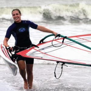 Schule in Neuseeland - Windsurfing