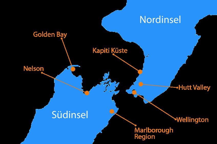 Regionen Karte