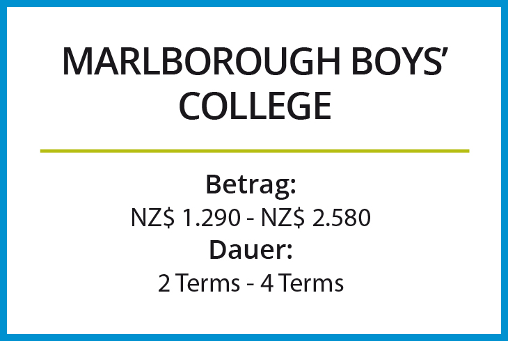 Stipendium Marlborough Boys College