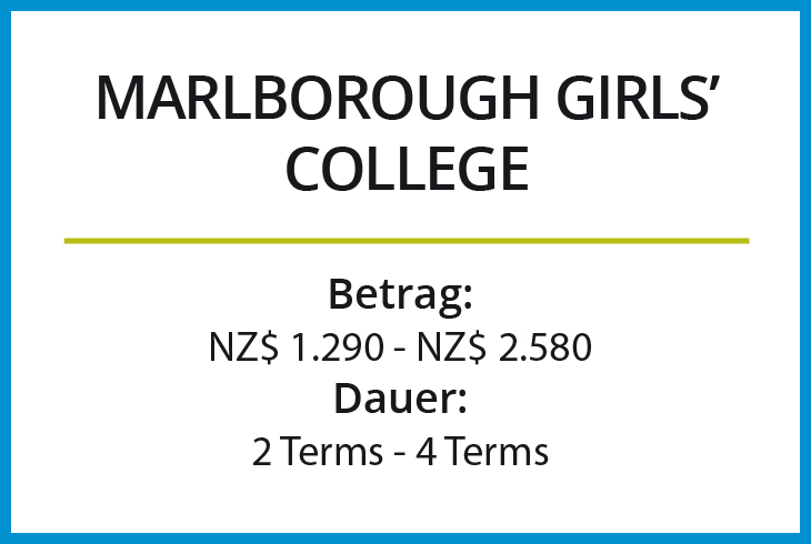 Stipendium Marlborough Girls College
