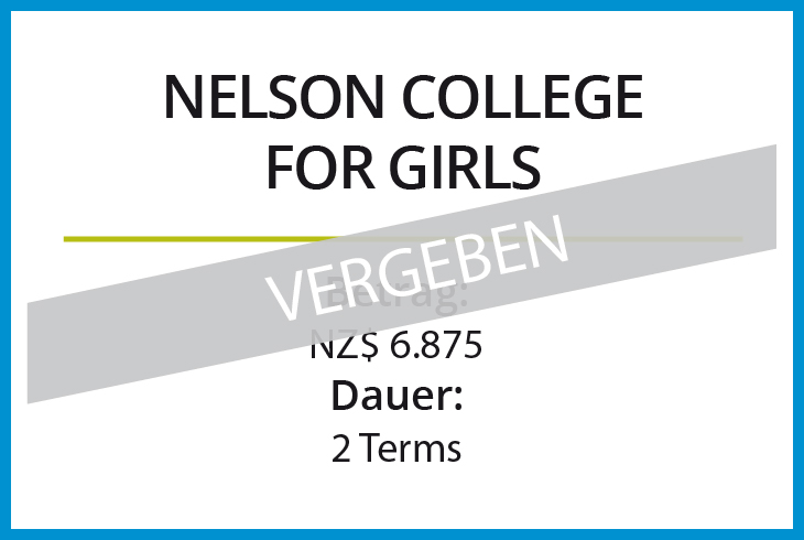 Stipendium Nelson College for Girls