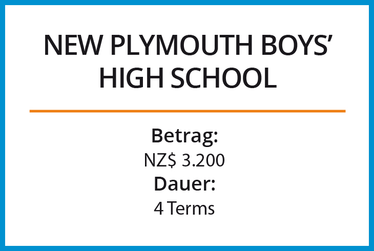 Stipendium New Plymouth Boys High School