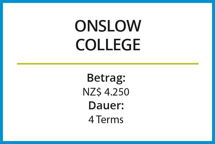 Stipendium Onslow College