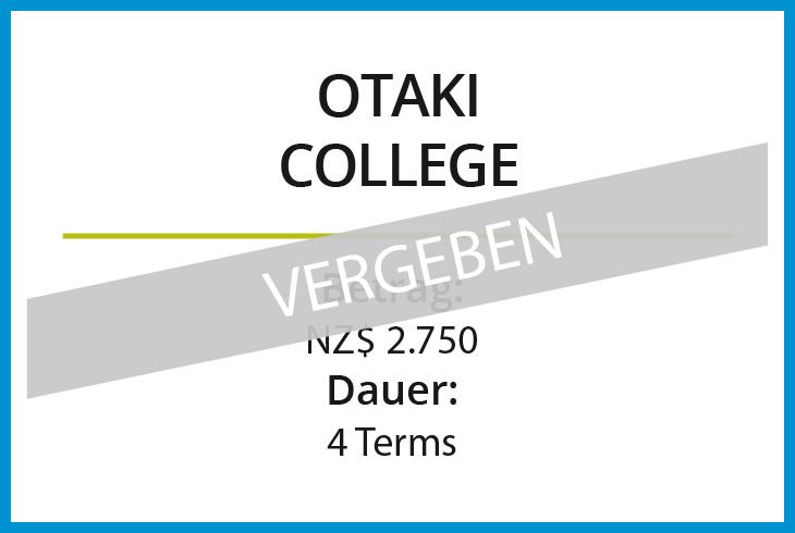 Stipendium Otaki College