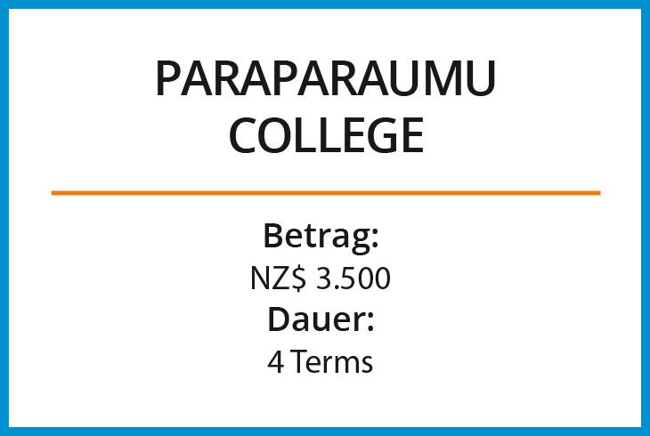 Stipendium Paraparaumu College