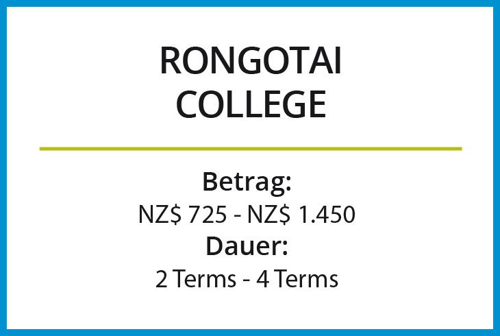 Stipendium Rongotai College