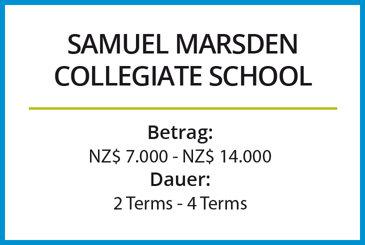 Stipendium Samuel Marsden Collegiate School