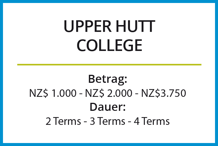 Stipendium Upper Hutt College